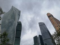 Moscow City Skyscrapers. Explore Russia. stock photography