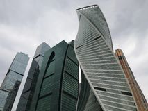 Moscow City Skyscrapers. Explore Russia. stock images