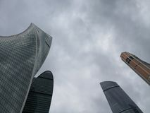 Moscow City Skyscrapers. Explore Russia. royalty free stock photography