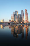 Moscow city skyscrapers and river Royalty Free Stock Photography