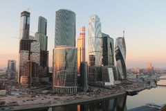 Moscow City skyscrapers Royalty Free Stock Images