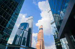 Moscow City Skyscrapers Royalty Free Stock Image