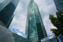 Moscow City Skyscrapers Royalty Free Stock Photo