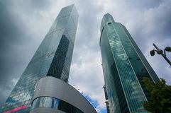 Moscow City Skyscrapers Stock Photo