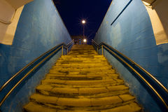 Moscow City Subway underpass. Subway underpass night in city Stock Photography