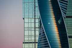 Moscow city at sun rise Royalty Free Stock Image