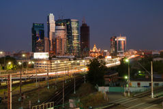 Moscow-city at the sunset Stock Photography