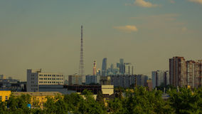 Moscow City Time Lapse Footage stock video
