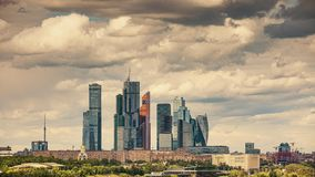 Moscow city timelapse stock video