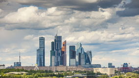 Moscow city timelapse stock video footage