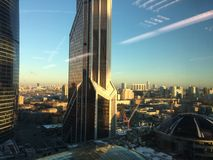 Moscow city tower business center. Business center in Moscow royalty free stock image