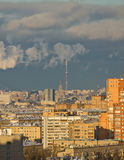 Moscow city view. From the high point on sunset Royalty Free Stock Image