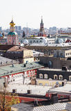 Moscow city view with Kremlin Stock Photos
