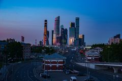 Business center Moscow City royalty free stock images