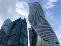 Moscow City - view of skyscrapers Moscow International Business Center Royalty Free Stock Photography