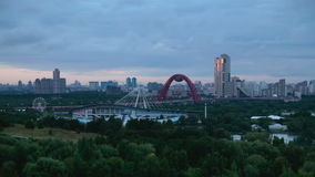 Moscow City View at Sunset stock video footage