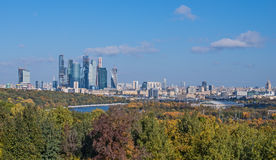 Moscow city view from Vorobyovy Mountains Stock Photography