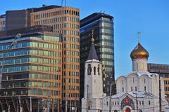 Moscow cityscape Royalty Free Stock Photo