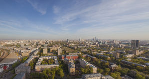 Moscow cityscape day panoramic view Stock Images