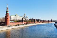 Moscow cityscape with Kremlin Stock Image