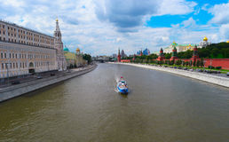 Moscow cityscape with Kremlin and river Stock Images