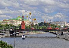 Moscow cityscape Stock Photos