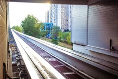 Moscow cityscape with monorail, Russia, East Royalty Free Stock Images