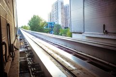 Moscow cityscape with monorail, Russia, East Stock Photography