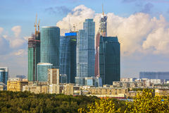 Moscow cityscape - Moscow City Stock Image