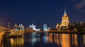 Moscow cityscape at night. Stock Photography