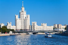 Moscow cityscape in summer day Stock Images