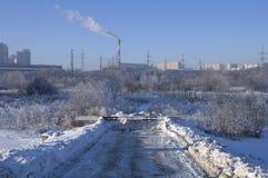 Moscow cold winter Stock Photos