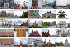 moscow collage imagem de stock