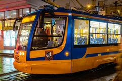 Moscow colored tram Royalty Free Stock Image