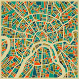 Moscow colourful city plan. Moscow vector map. Colorful vintage design base for travel card, advertising, gift or poster Stock Photo