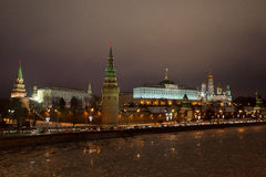 Moscow Cremlin at Night. Stock Images