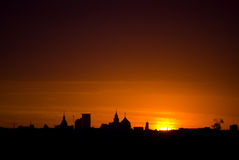 Moscow Dawn Royalty Free Stock Images