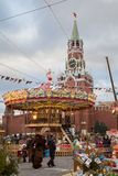 Moscow decorated for New Year and Christmas holidays Red Square Stock Images