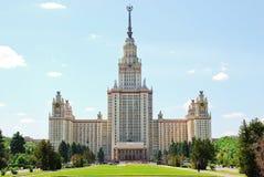 Moscow delstatsuniversitet M V Lomonosov Arkivfoton