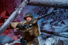 """""""Moscow do panorama 3D 1941  de Counteroffensive†no """"Russia, meu parque histórico do  de History†Imagem de Stock"""