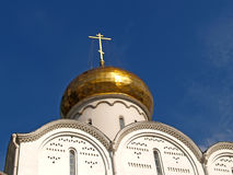 Moscow. A dome Nicholas The Wonderworker`s church at the Tver Outpost Stock Images