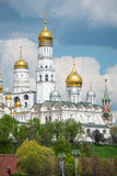 The Moscow Dormitory Cathedral. Looking stunning in May overlooking the Moscow River Royalty Free Stock Images