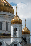 The Moscow Dormitory Cathedral. Looking stunning in May overlooking the Moscow River Stock Photo