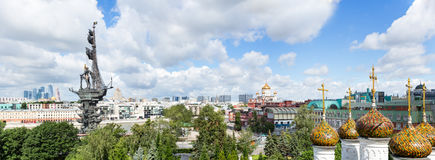Moscow Downtown, Peter The Great Statue, Christ The Saviour сathedral Stock Image