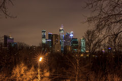 Moscow early in the morning and evening Stock Photography