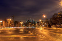 Moscow early in the morning and evening Royalty Free Stock Photo