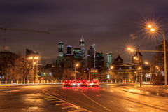 Moscow early in the morning and evening Royalty Free Stock Images