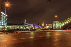 Moscow early in the morning and evening Royalty Free Stock Image