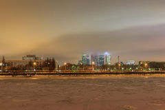 Moscow early winter morning Stock Photos