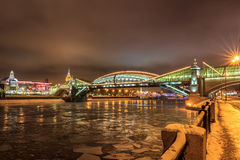 Moscow early winter morning Royalty Free Stock Images